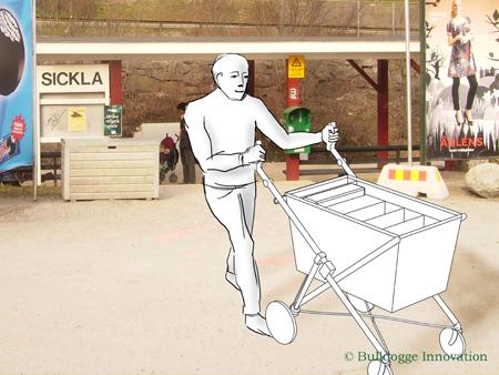 Bulldogge Trolley på väg